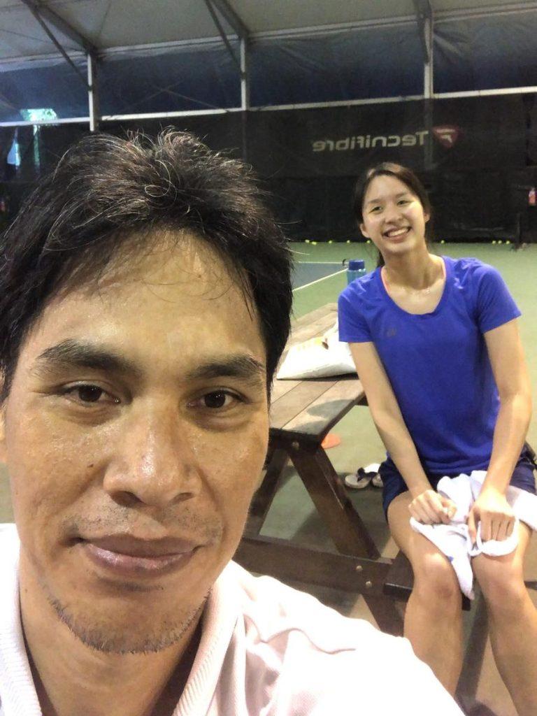 Coach Bo Alburo Lourelu Adlawan Mari with Katie Ong