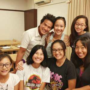 Coach XT with his girls junior students - Lim Lerr Min, Mikaela Hiu, Gabriela Hiu, Alexis Yeo, Keslyn Poh, Kiera Poh
