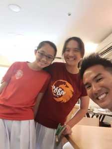 Coach XT - junior sister tennis player Keslyn Poh and Kiera Poh