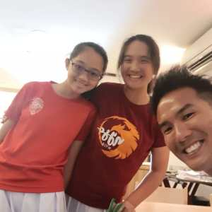 Coach XT - junior sister tennis player Keslyn Poh and Kiera Poh
