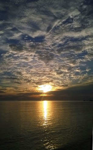 Sunset (month of June) in Tagulandang Bahoi Beach. Sulawesi Utara. Indonesia