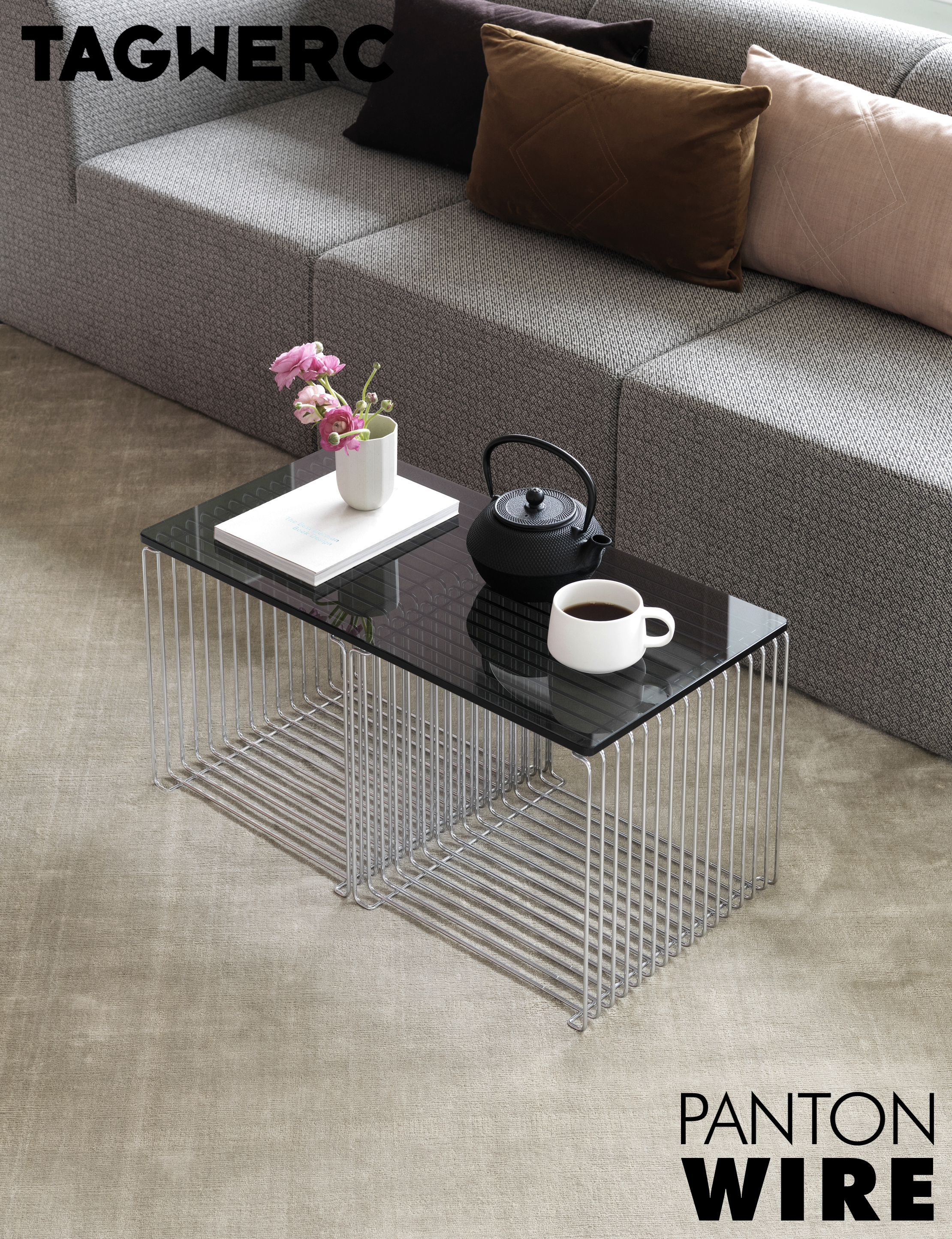 Montana Panton Wire Chrome Metal Wall Shelf Verner Panton