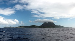 Approaching Bora Bora from the east