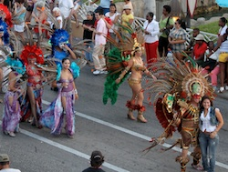Carnival parade in Aruba - Valentine's Day 2010