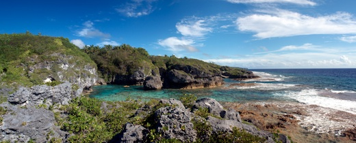 Limu pools of Niue in panorama form