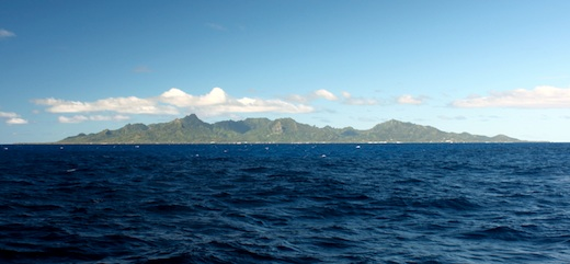 Approaching Rarotonga from the North