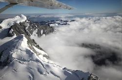 Mountains near Mt. Cook from Air Safari tour