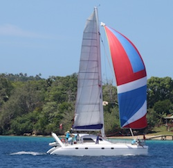 Division II catamaran in the race