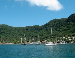 Pago Pago on a rare sunny moment