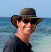 Paul on a beach in Ha'apai