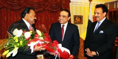 Rehman Malik has forwarded an important yet secret message of Muttahida Qaumi Movement (MQM) chief Altaf Hussain to Pakistan People's Party (PPP) co-chairman and former president of Pakistan Asif Ali Zardari on Thursday. According to sources, the Malik became a messenger when he forwarded an important message during a meeting held in Bilawal House to discuss overall situation of the country. The text of the message was not disclosed but if sources are to be believed than it may be regarding the current situation of the country including dialogue with Taliban or about the developments in Dr Imran Farooq murder caseRehman Malik reiterates that, during his tenure, no Pakistani was arrested in Imran Farooq murder case..