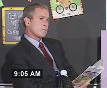 FAHRENHEIT24 After being told ÒAmerica is under attackÓ when the second plane hit the tower on 9/11, George W. Bush continued to read ÒMy Pet GoatÓ in a Florida classroom for nearly seven minutes.