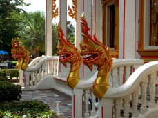 Dragons guarding entrances