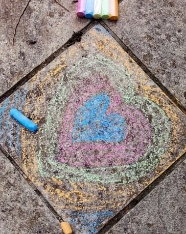 Activities for children chalk drawing