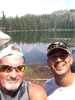 Chris and I at Summit Lake