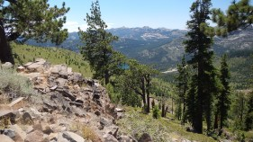 Looking down form Donner Ridge trail
