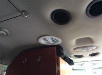The fans were installed front and rear, offset because of the AC ducting