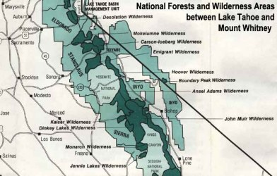 national forest wilderness california maps map forests toiyabe stanislaus hunting sierra tahoe whitney areas lake humboldt el software electronic records