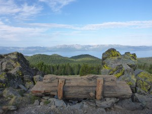 52-Wooden Bench with Views of Lake Tahoe