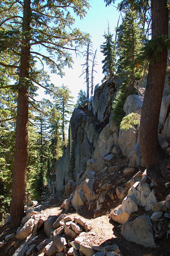 79-Granite Wall along the Tahoe Rim Trail