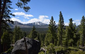 Hiking Cowboy Hat Hill affords you views of Mount Tallac