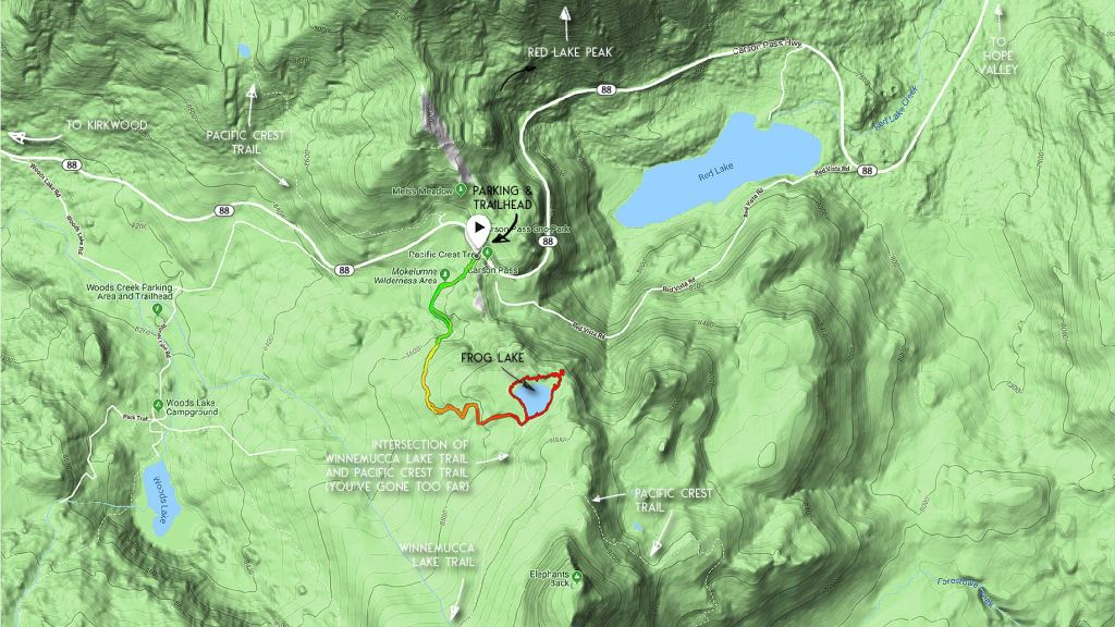 Hiking Frog Lake Map