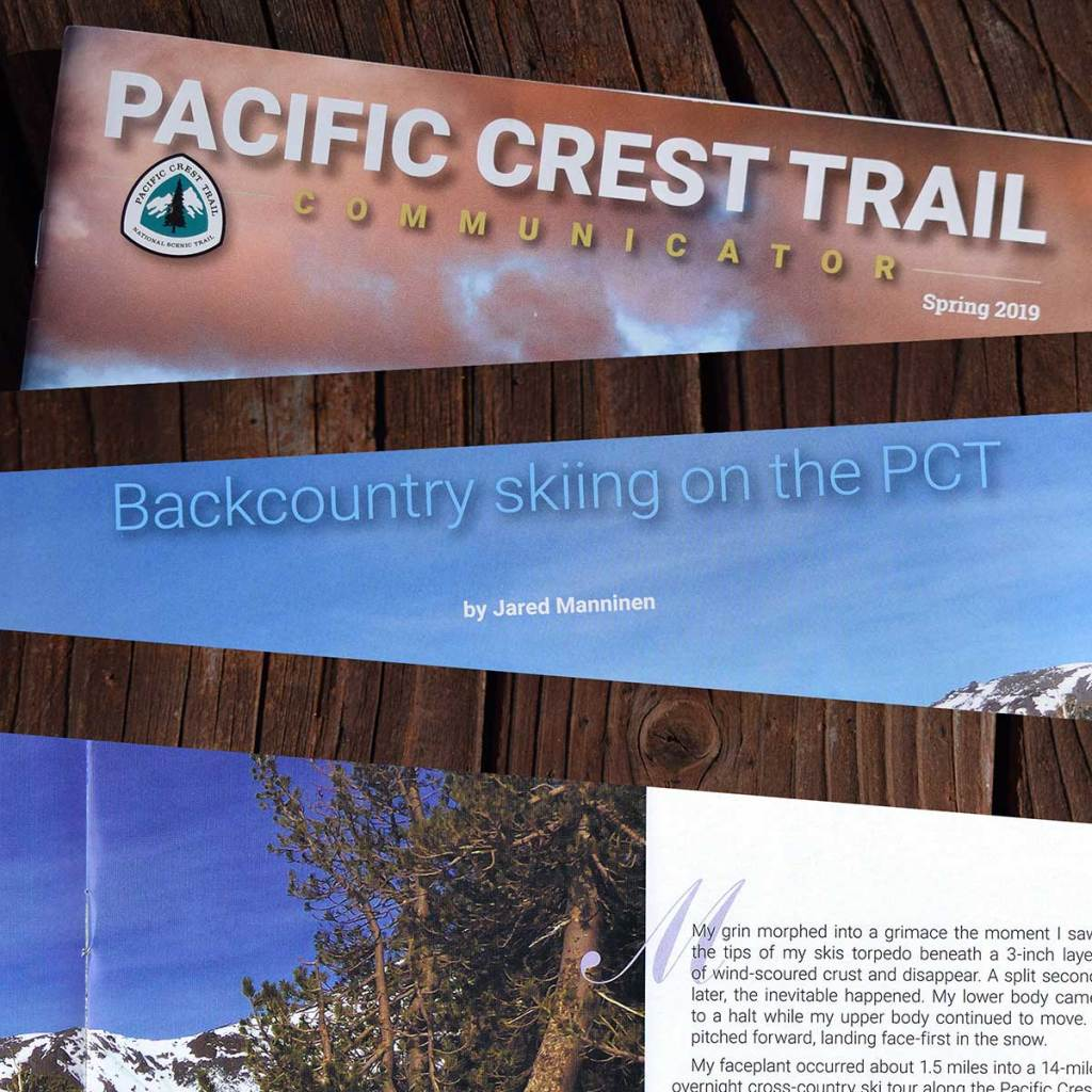 Backcountry skiing on the PCT