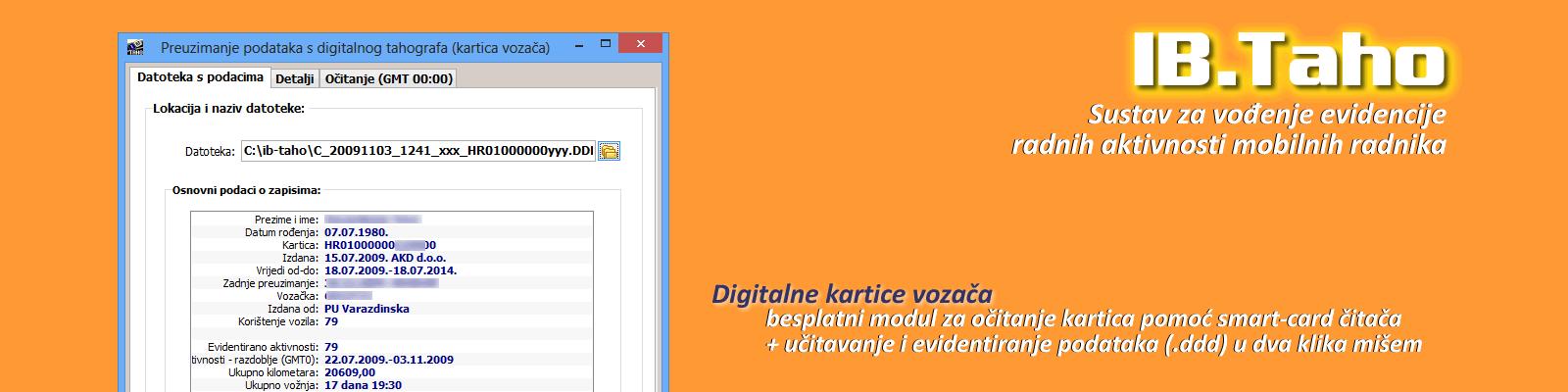 Digitalni tahografi – kartice vozača