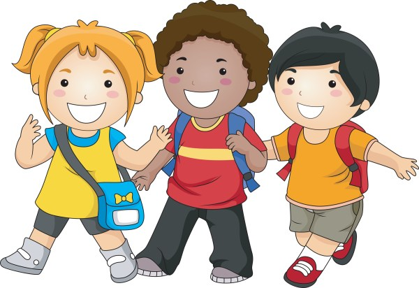 Friends Walking Clipart