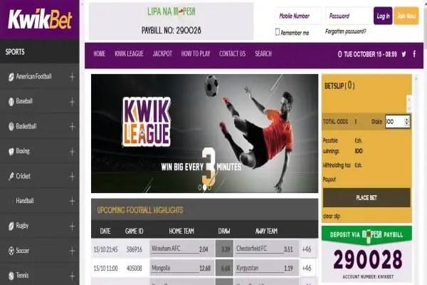 KwikBet Registration, Deposit, App, Bonus and Predictions