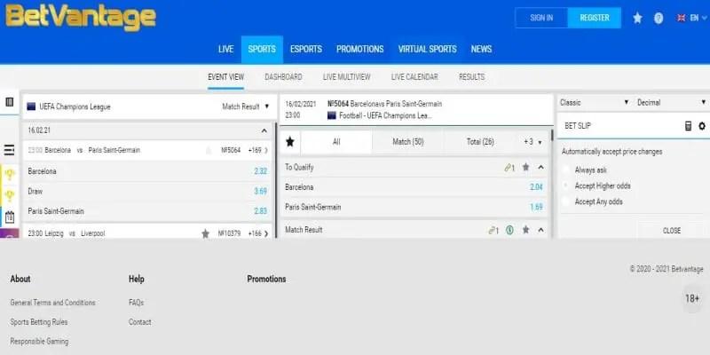 BetVantage Registration, Login, App, Bonus, PayBill Number and Contacts
