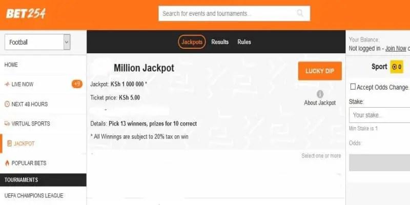 BET254 Weekend Million Jackpot Predictions