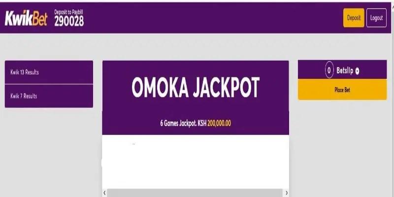 KwikBet Omoka Jackpot Predictions