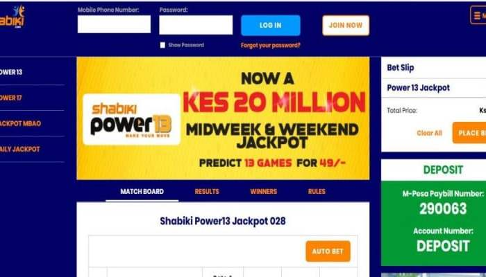 1st August 2019 Shabiki Power 13 Jackpot Predictions
