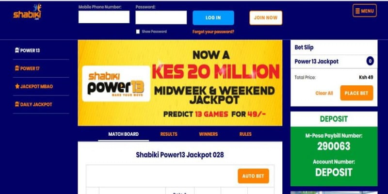 Shabiki Power 13 Jackpot Predictions