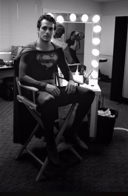 Henry Cavill as Superman in Christopher Reeve's suit