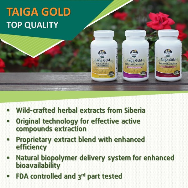 Taiga Gold herbal supplements