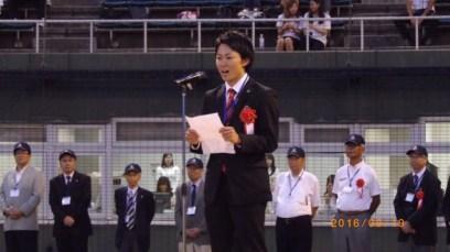 主管地区歓迎の挨拶(伊藤学生委員長)