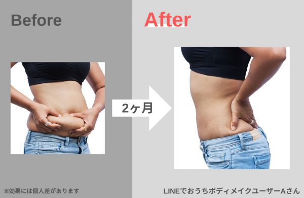 LINEでトレーニング(before after)