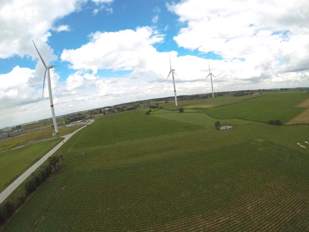 Electric wind turbines of Poperinge