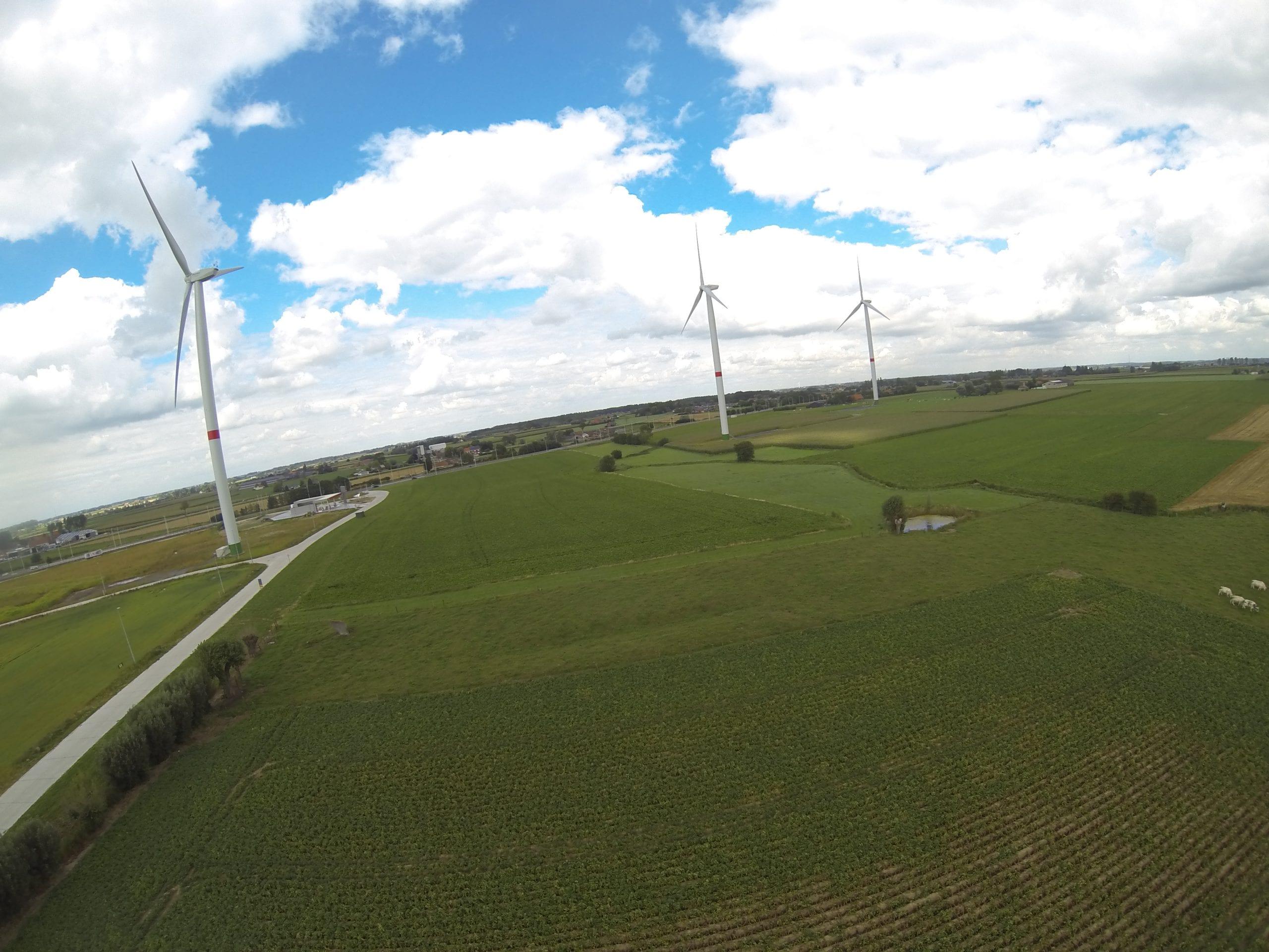 Electric wind turbines of Poperinge