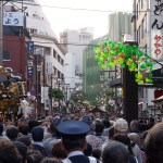 The area around the Asakusa Shrine in Tokyo during Sanja Matsuri