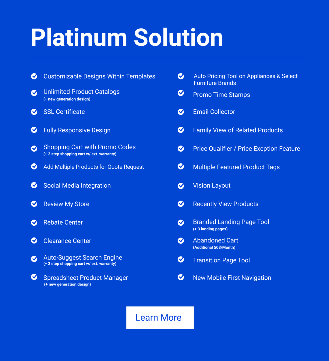 Solutions Web Platinum