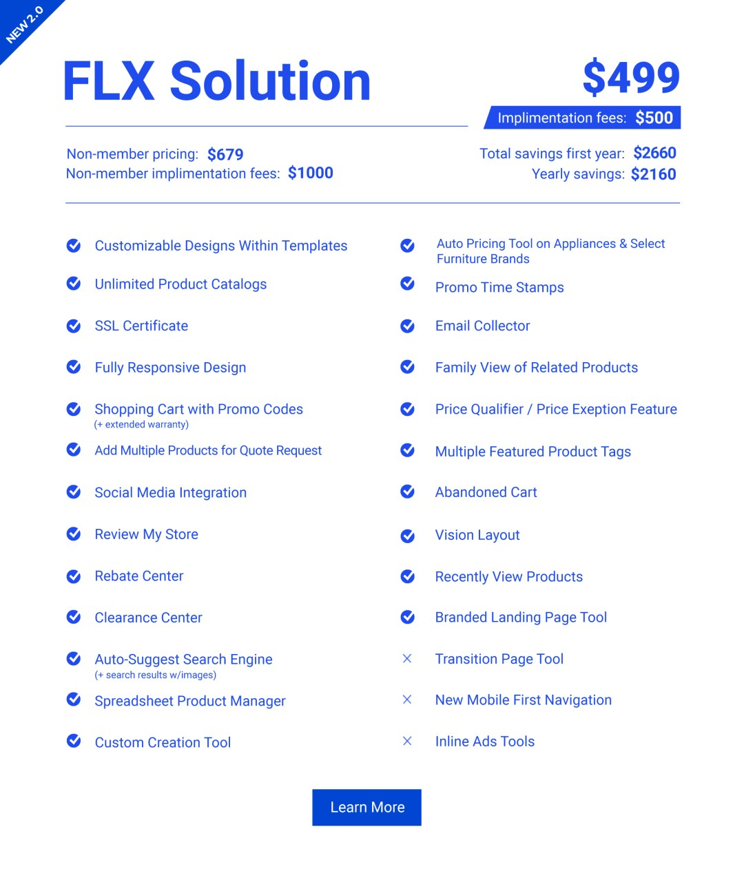 Retail FLX Website Solution