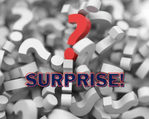 Tissu surprise!