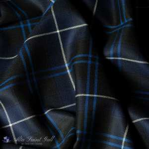 Blue Tartan Fabric from Tailor Box