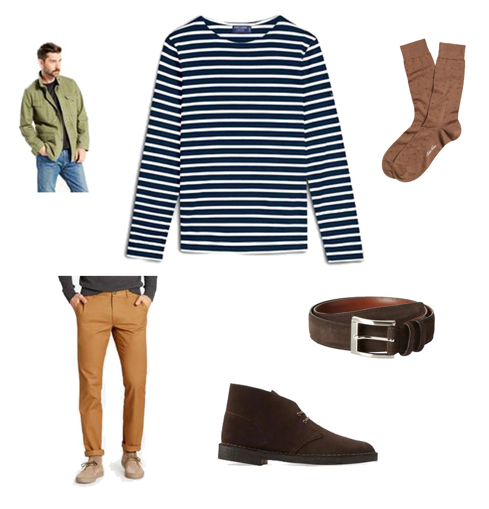 Saint-James Breton Stripe Shirt and Chinos