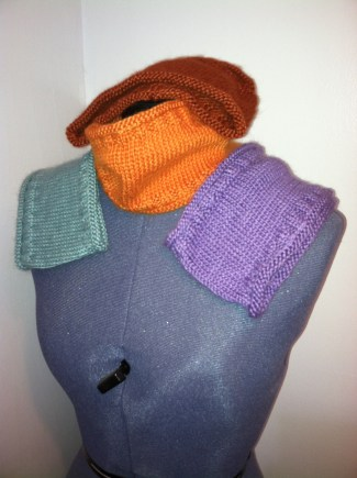 Cowls, multiple colors available.