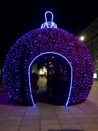 Krakowskie Przedmieście and the winter decorations
