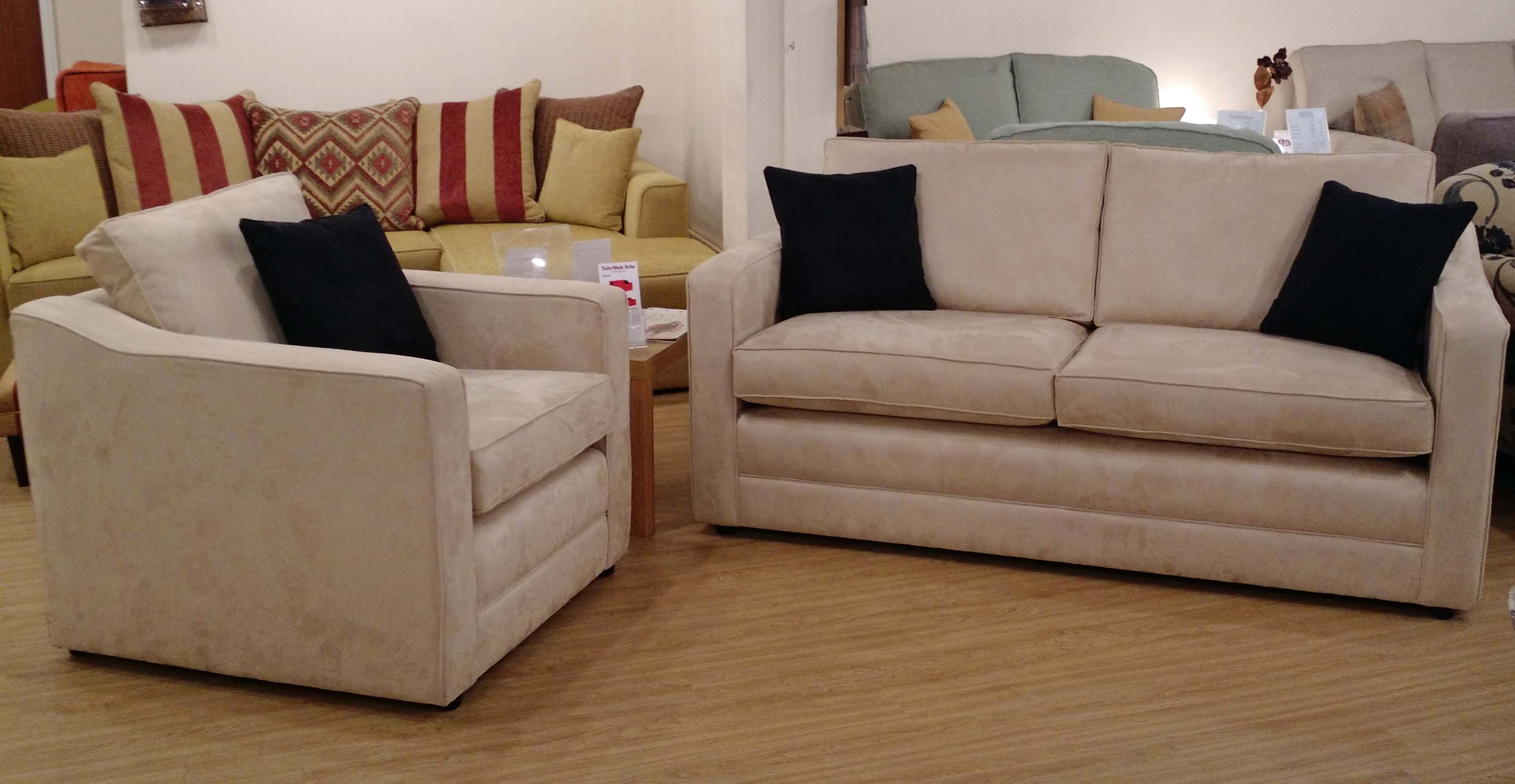 ex display sofa bed birmingham ravel small leather chocolate princeton 3str and chair tailor made sofas